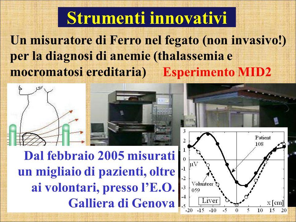 Strumenti innovativi Un misuratore di Ferro nel fegato (non invasivo!) per la diagnosi di anemie (thalassemia e mocromatosi ereditaria)