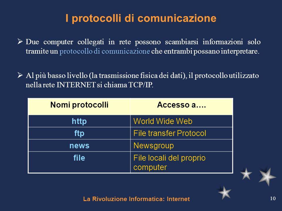 I protocolli di comunicazione