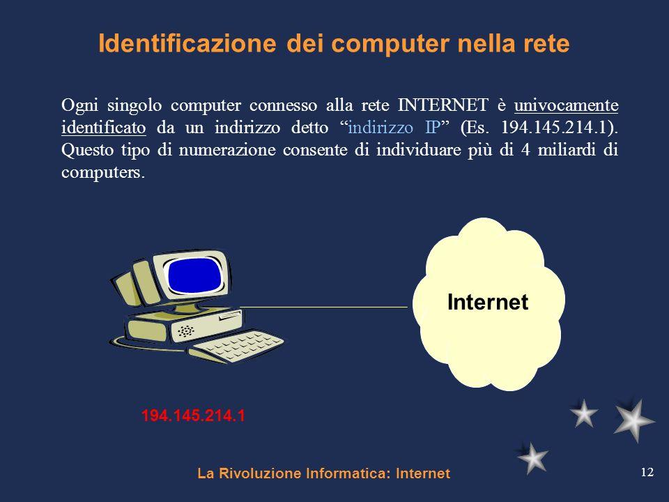 Identificazione dei computer nella rete