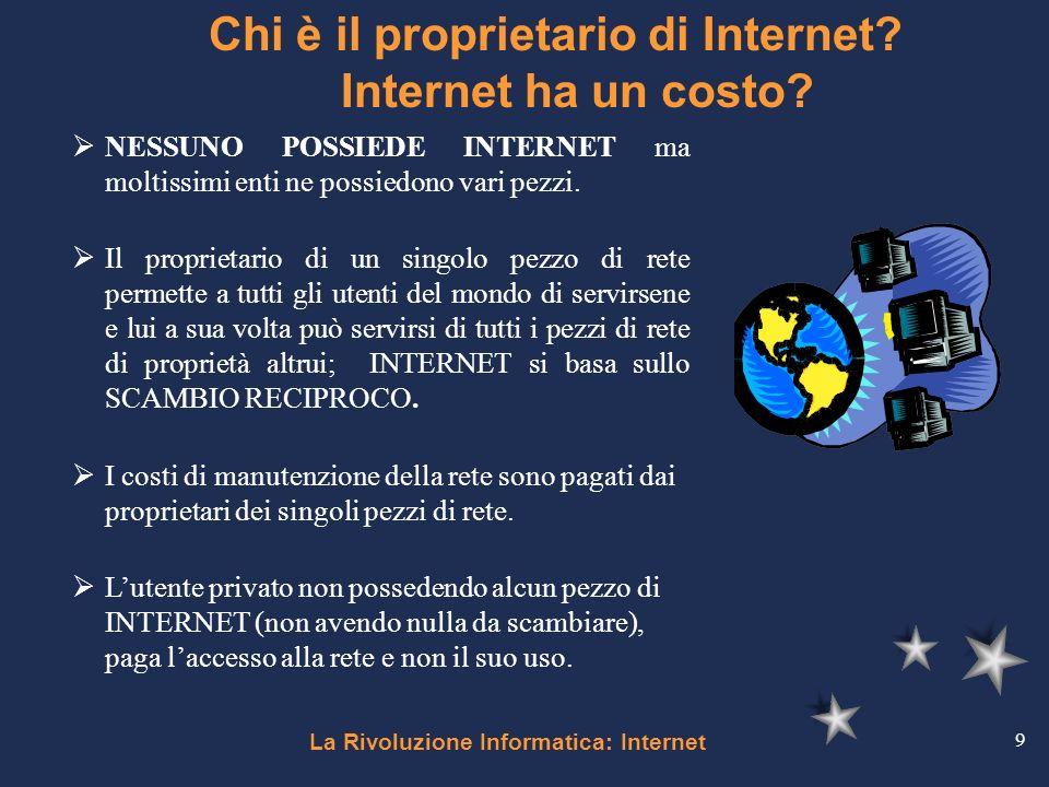 Chi è il proprietario di Internet Internet ha un costo