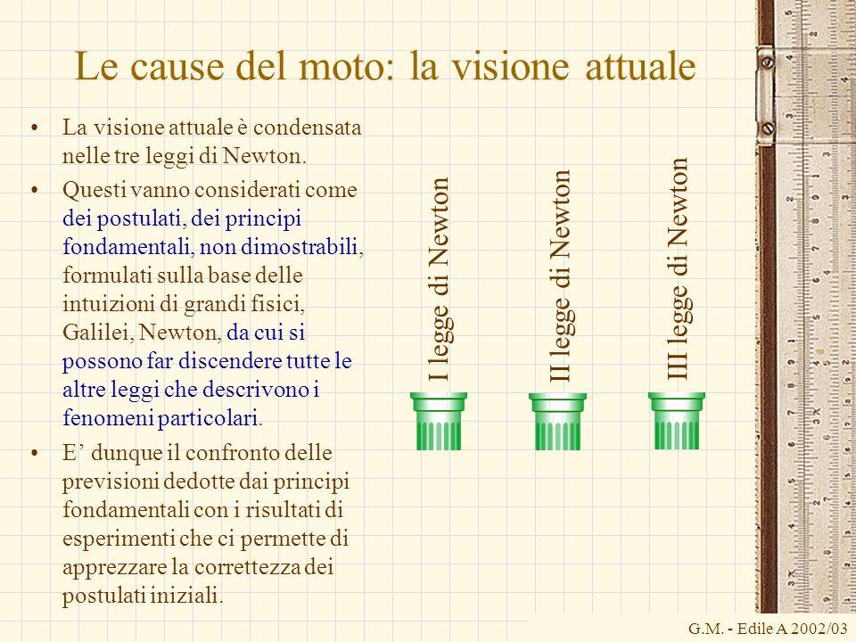 Le cause del moto: la visione attuale