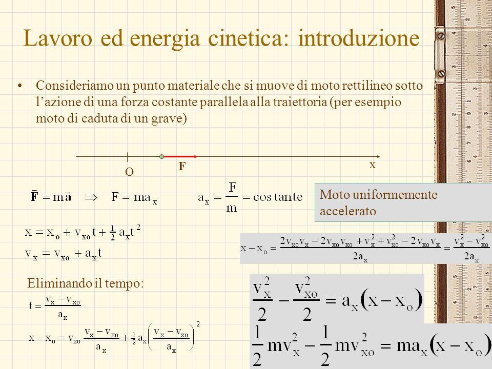 Lavoro ed energia cinetica: introduzione