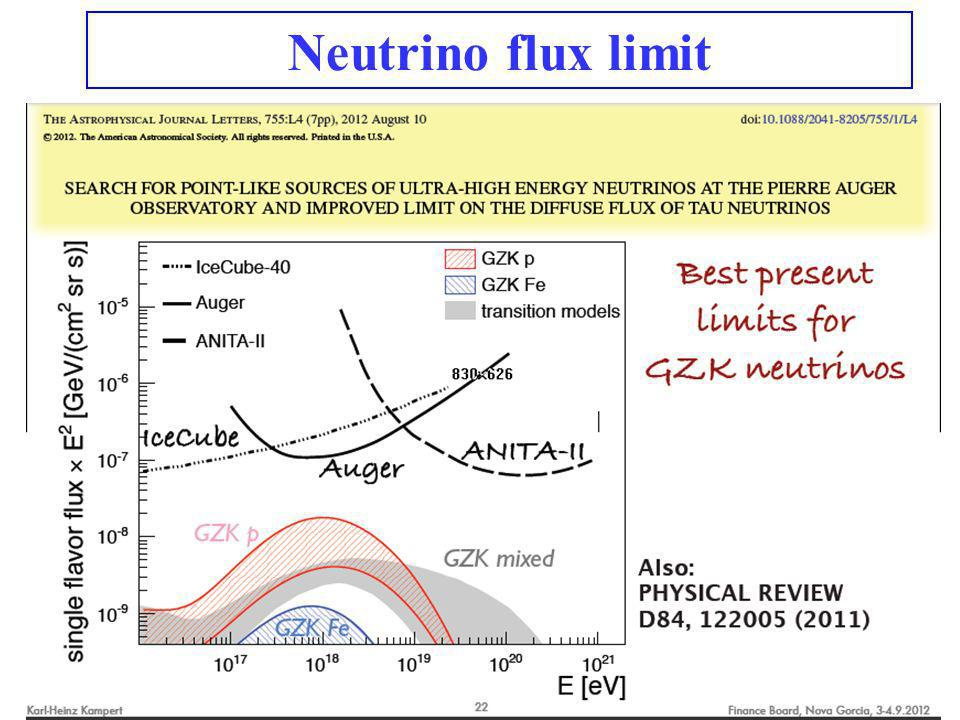 Neutrino flux limit