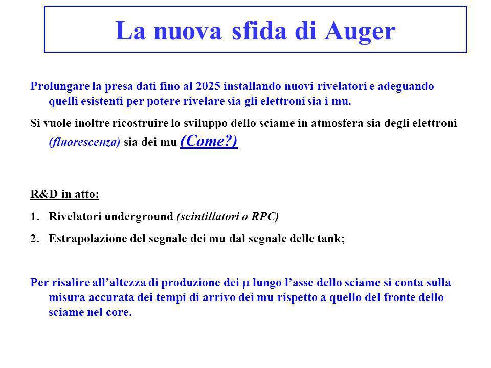 La nuova sfida di Auger