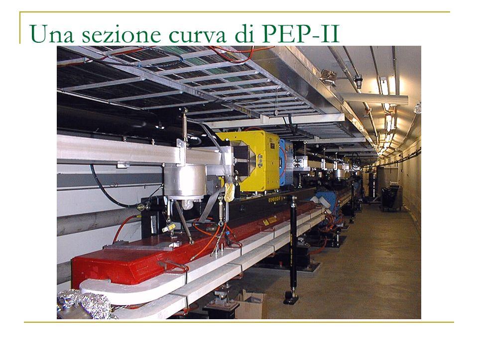 Una sezione curva di PEP-II