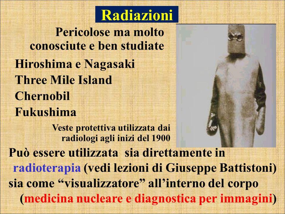 Radiazioni Pericolose ma molto conosciute e ben studiate
