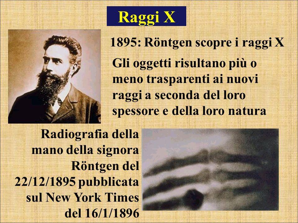 Raggi X 1895: Röntgen scopre i raggi X