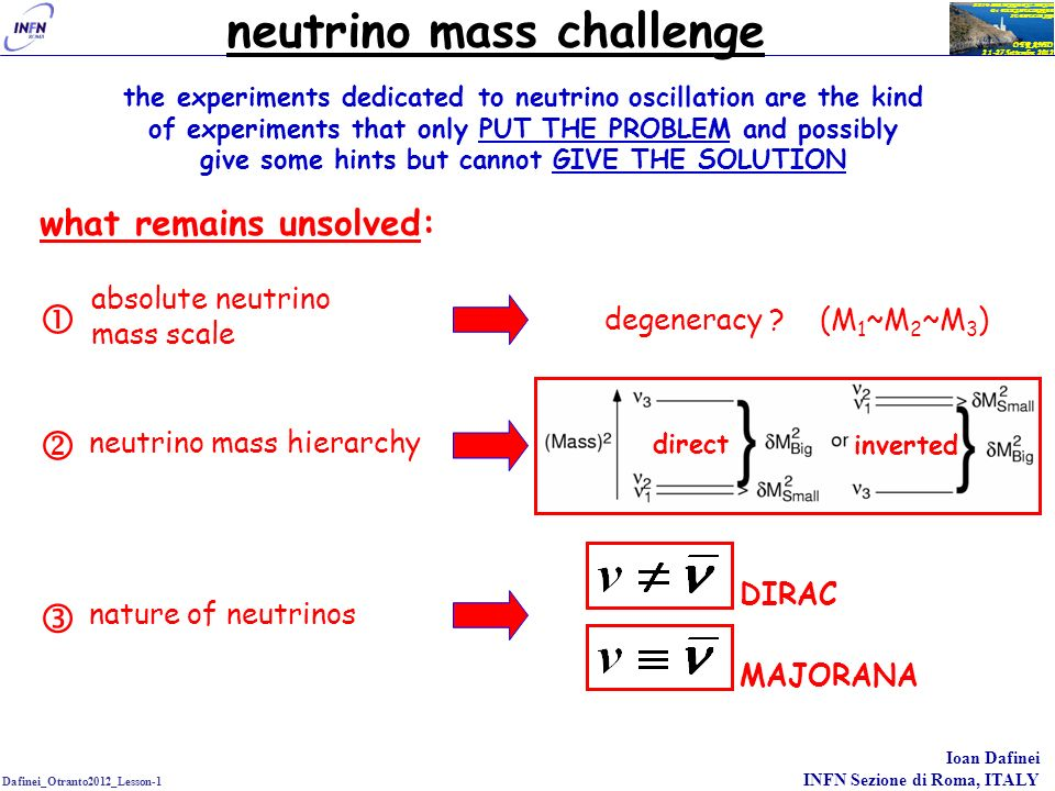 neutrino mass challenge