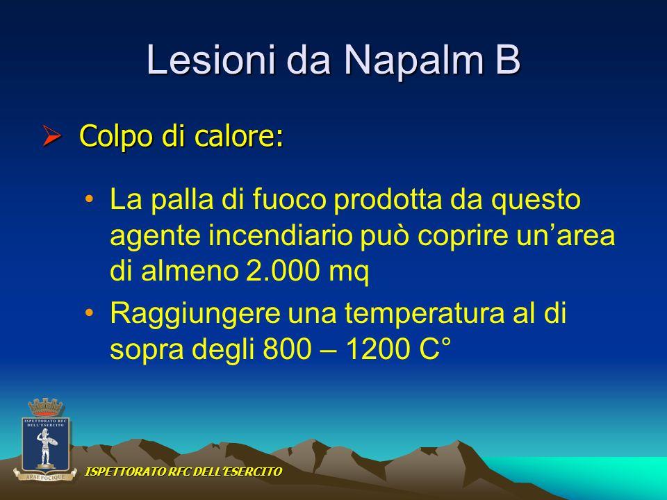 Lesioni da Napalm B Colpo di calore:
