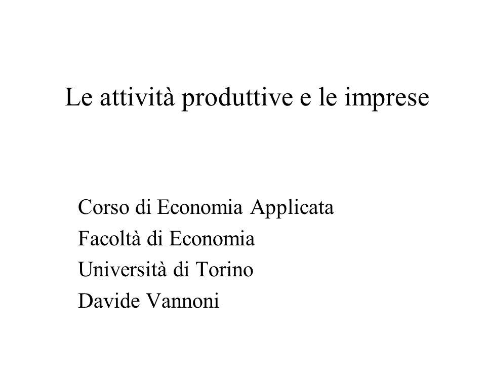 Le attività produttive e le imprese