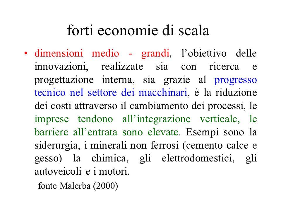 forti economie di scala