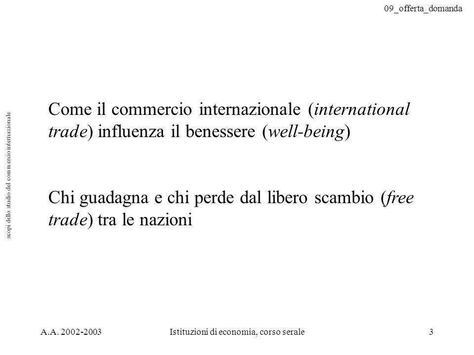 scopi dello studio del commercio internazionale