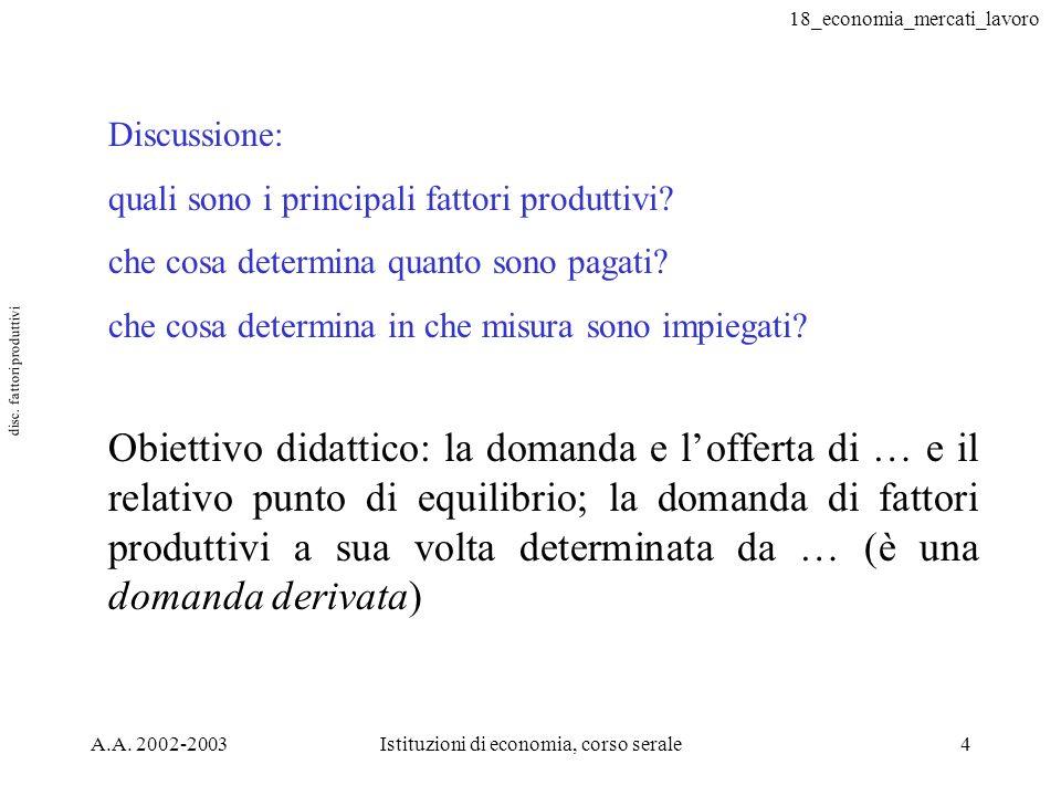 disc. fattori produttivi