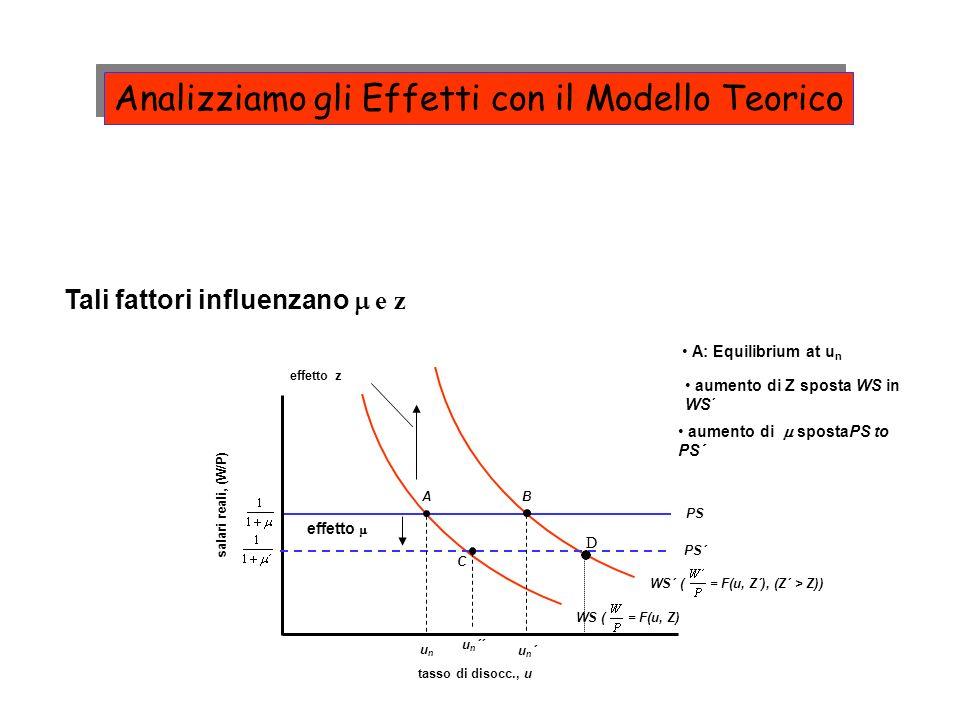 Analizziamo gli Effetti con il Modello Teorico