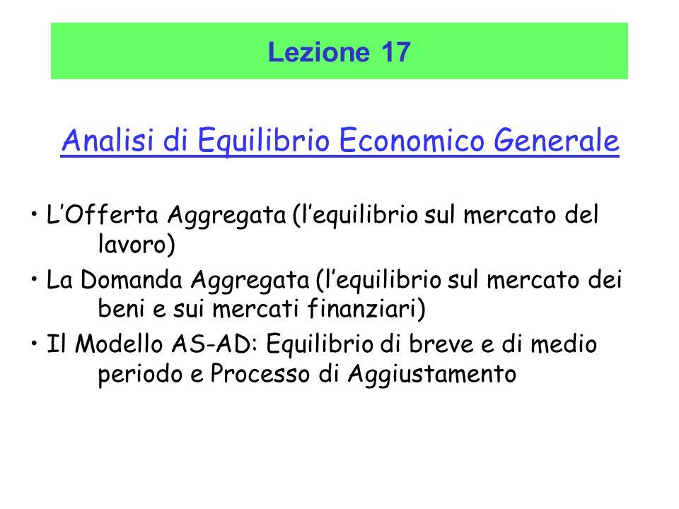 Analisi di Equilibrio Economico Generale