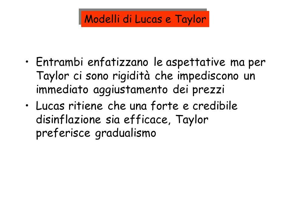 Modelli di Lucas e Taylor