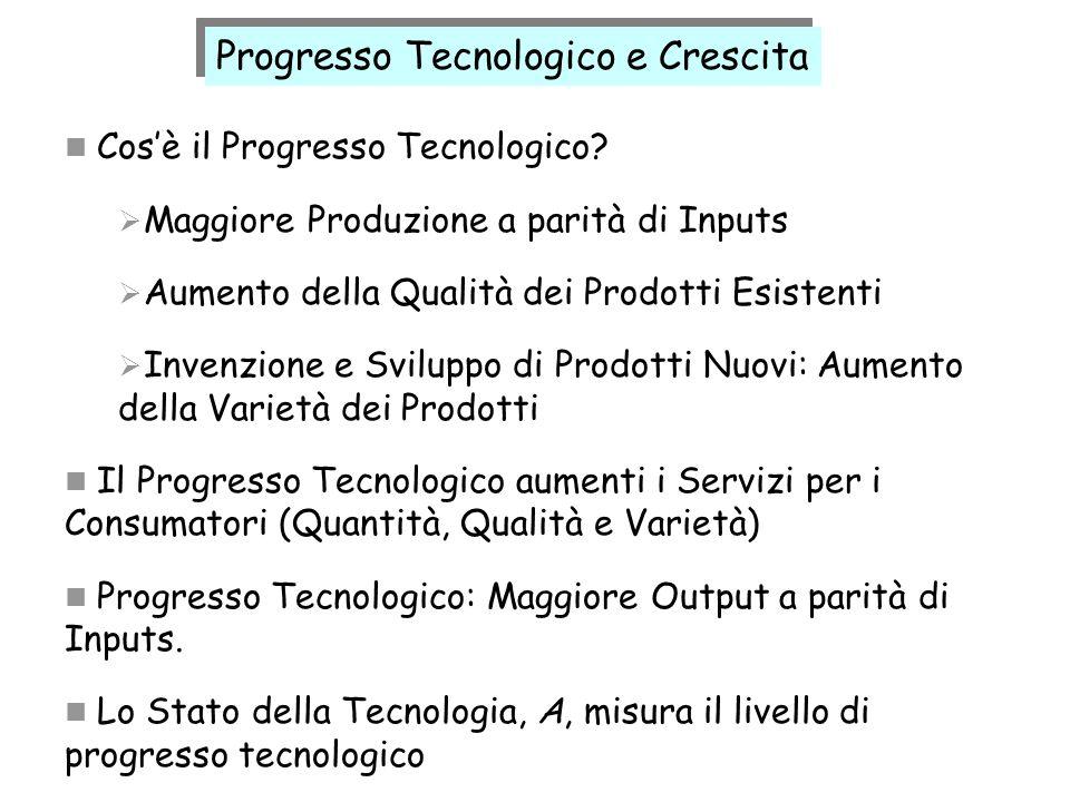 Progresso Tecnologico e Crescita