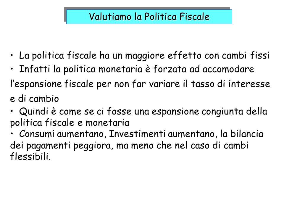 Valutiamo la Politica Fiscale
