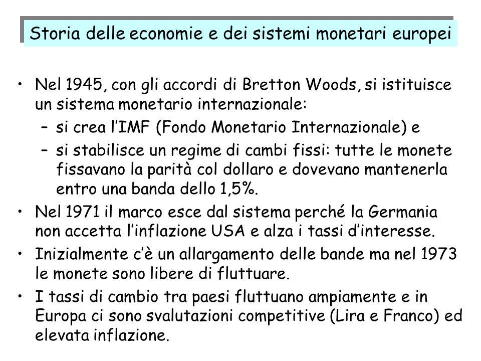 Storia delle economie e dei sistemi monetari europei