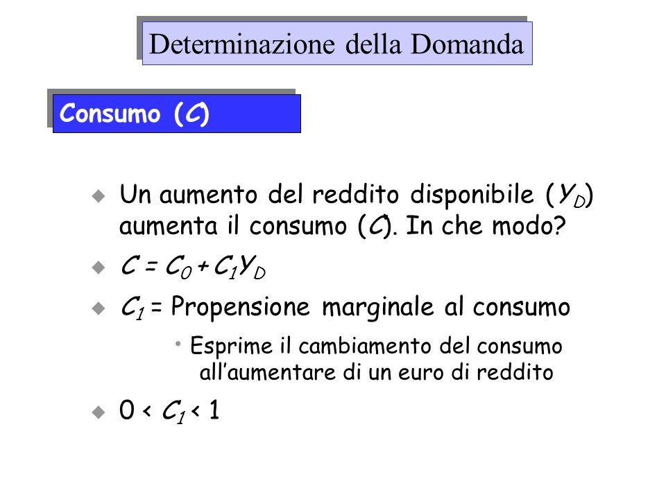 Esprime il cambiamento del consumo all'aumentare di un euro di reddito