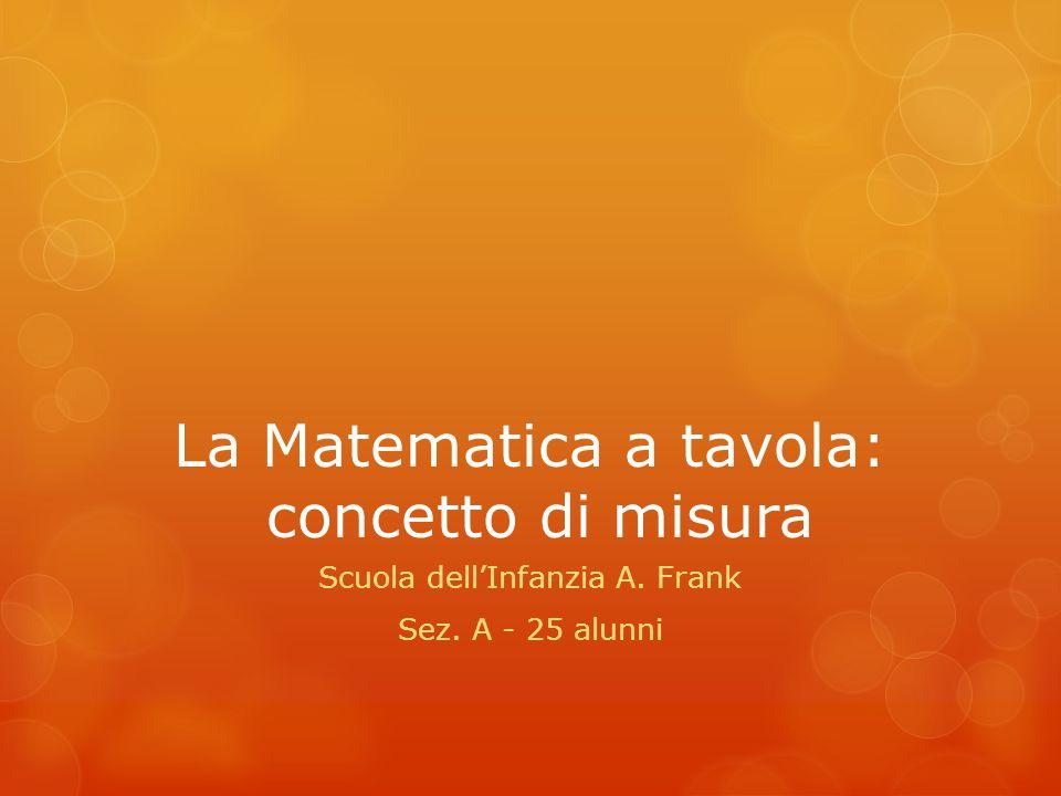 La Matematica a tavola: concetto di misura
