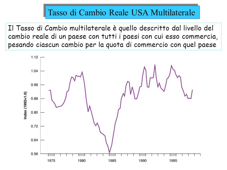 Tasso di Cambio Reale USA Multilaterale