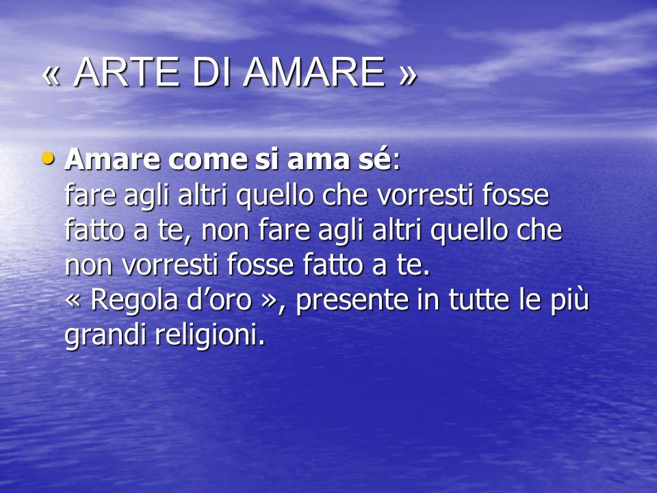 « ARTE DI AMARE »