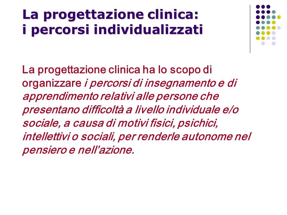 La progettazione clinica: i percorsi individualizzati