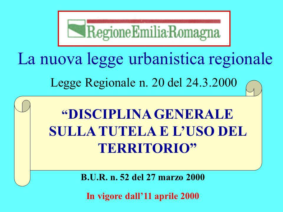 La nuova legge urbanistica regionale