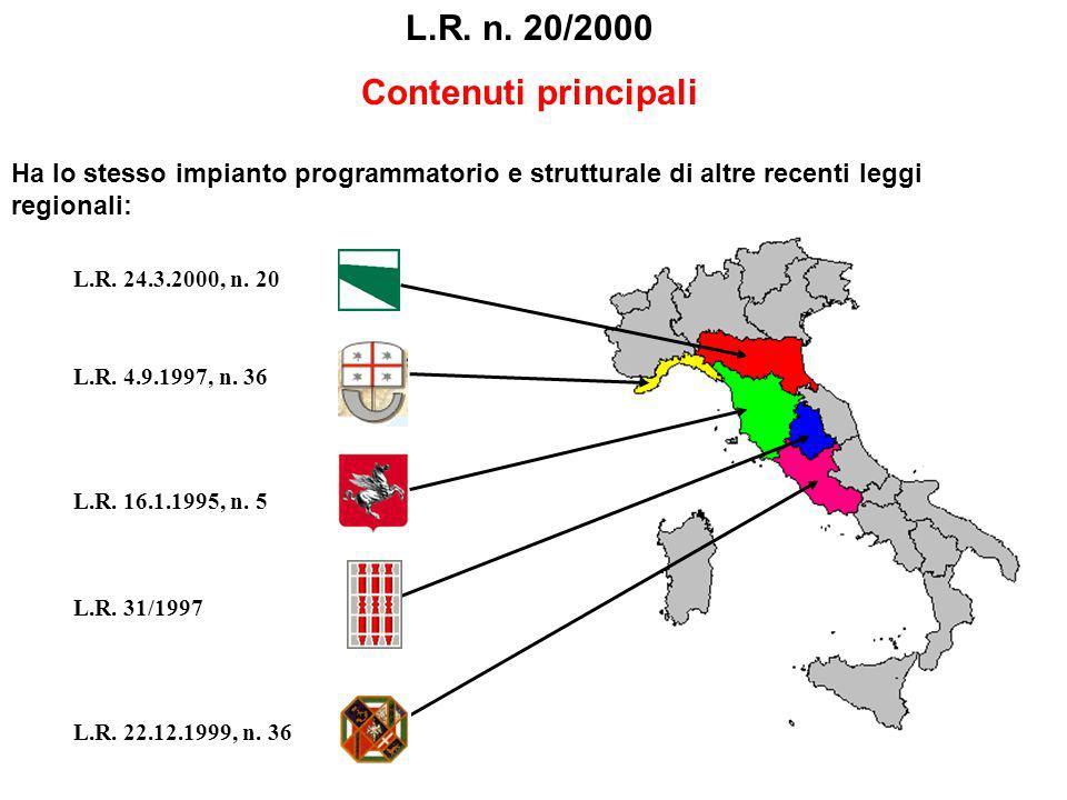 L.R. n. 20/2000 Contenuti principali