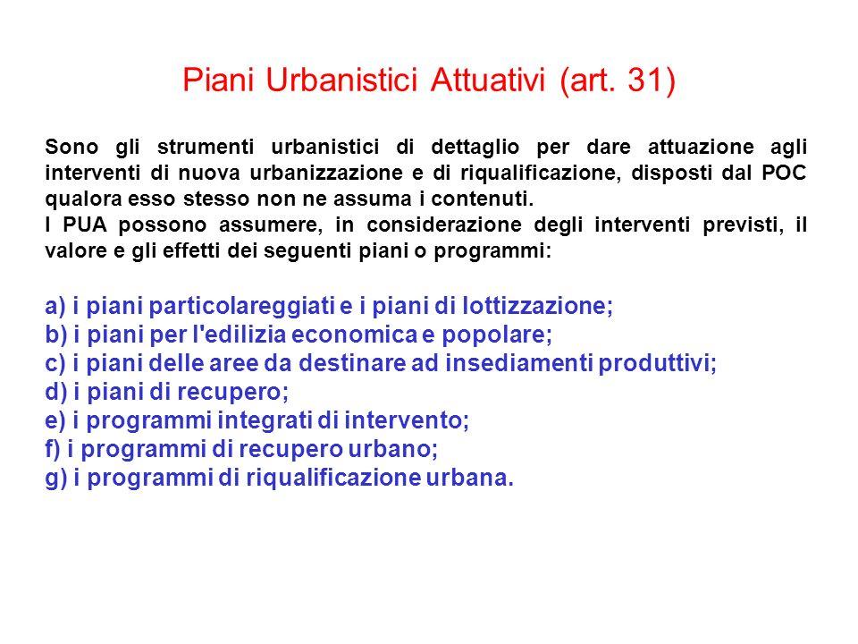 Piani Urbanistici Attuativi (art. 31)