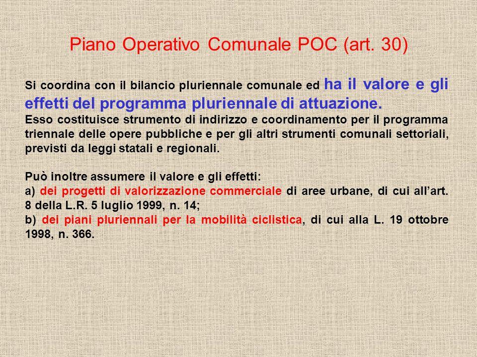 Piano Operativo Comunale POC (art. 30)