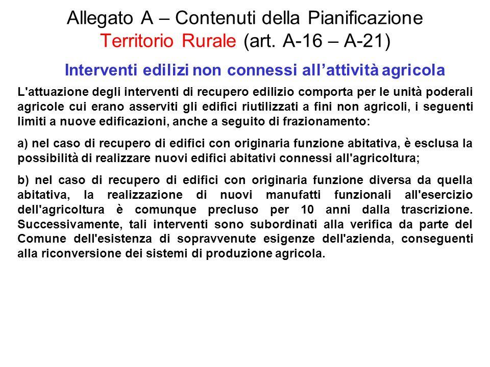 Interventi edilizi non connessi all'attività agricola