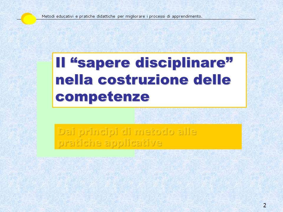 Il sapere disciplinare nella costruzione delle competenze