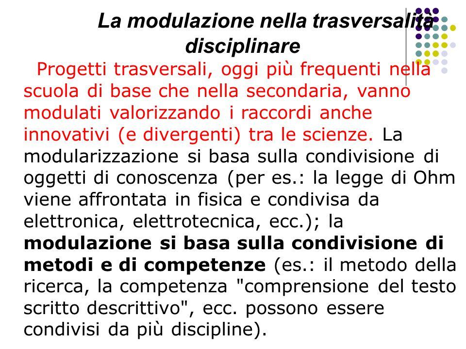 La modulazione nella trasversalità disciplinare