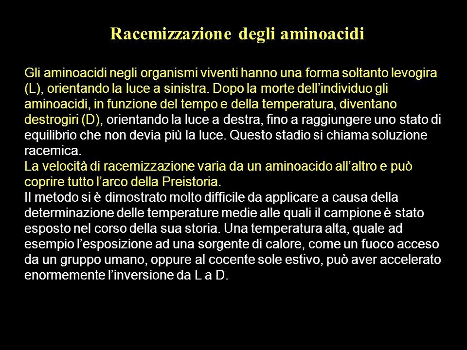Racemizzazione degli aminoacidi