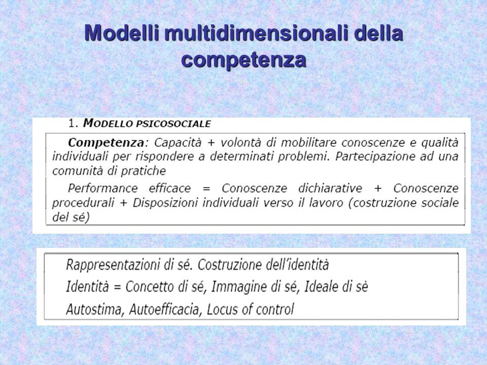 Modelli multidimensionali della competenza