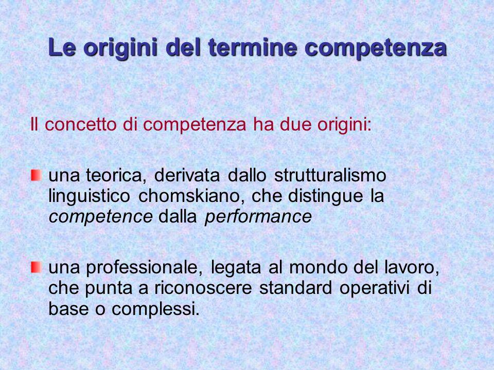 Le origini del termine competenza