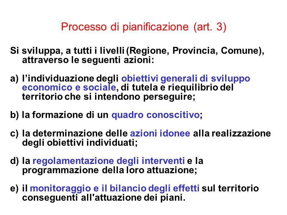 Processo di pianificazione (art. 3)