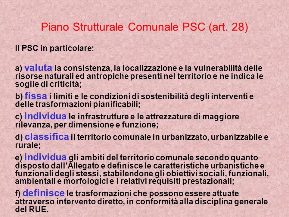 Piano Strutturale Comunale PSC (art. 28)