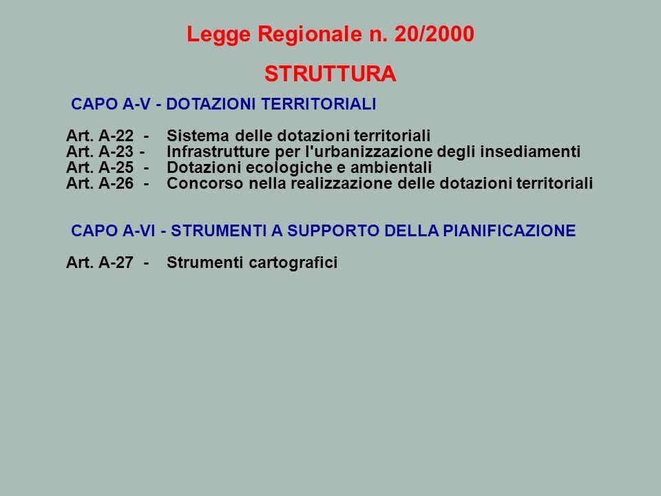 Legge Regionale n. 20/2000 STRUTTURA
