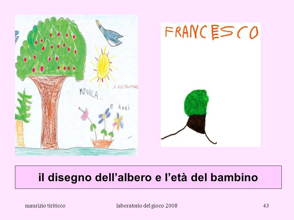 il disegno dell'albero e l'età del bambino