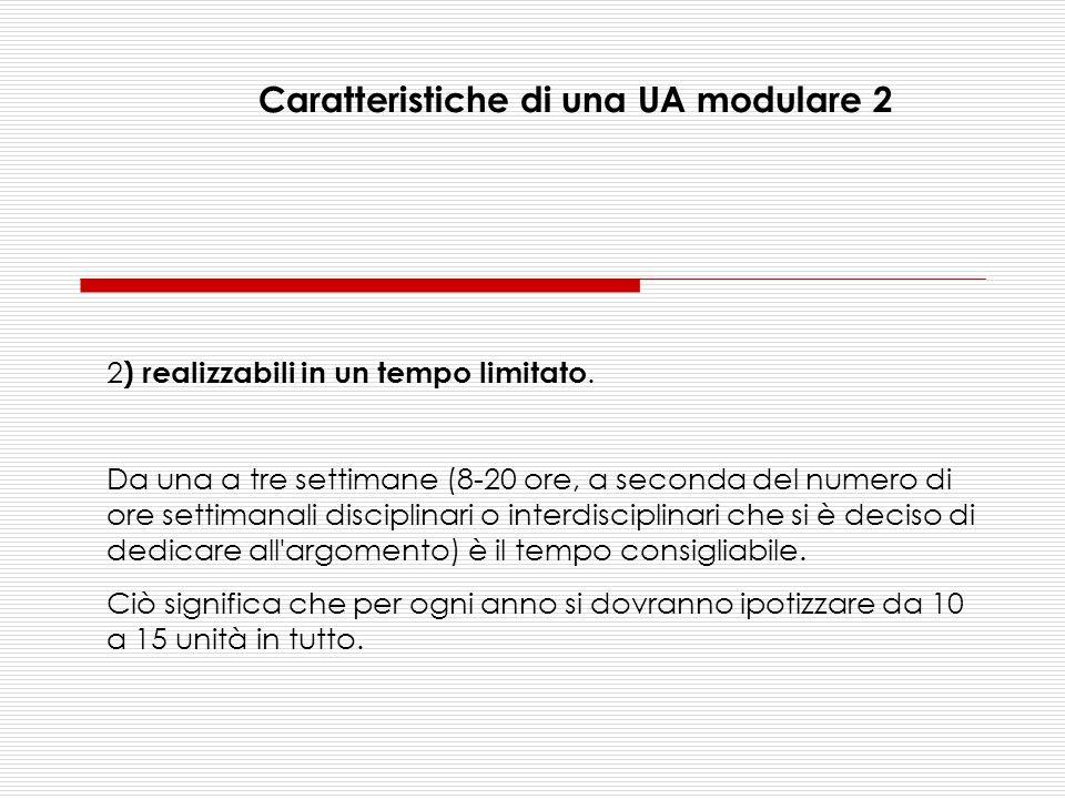 Caratteristiche di una UA modulare 2