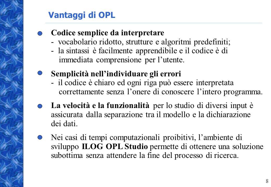 Vantaggi di OPL
