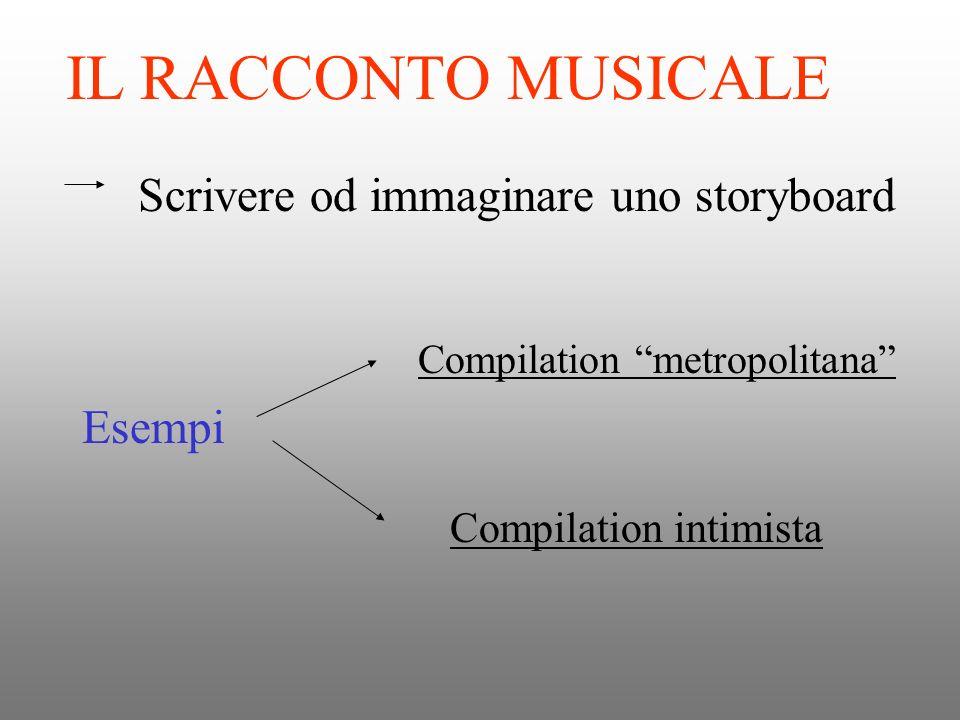 IL RACCONTO MUSICALE Scrivere od immaginare uno storyboard Esempi