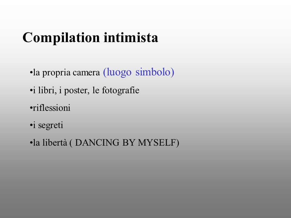Compilation intimista