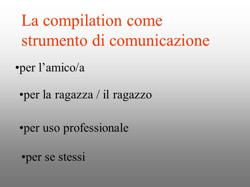 La compilation come strumento di comunicazione