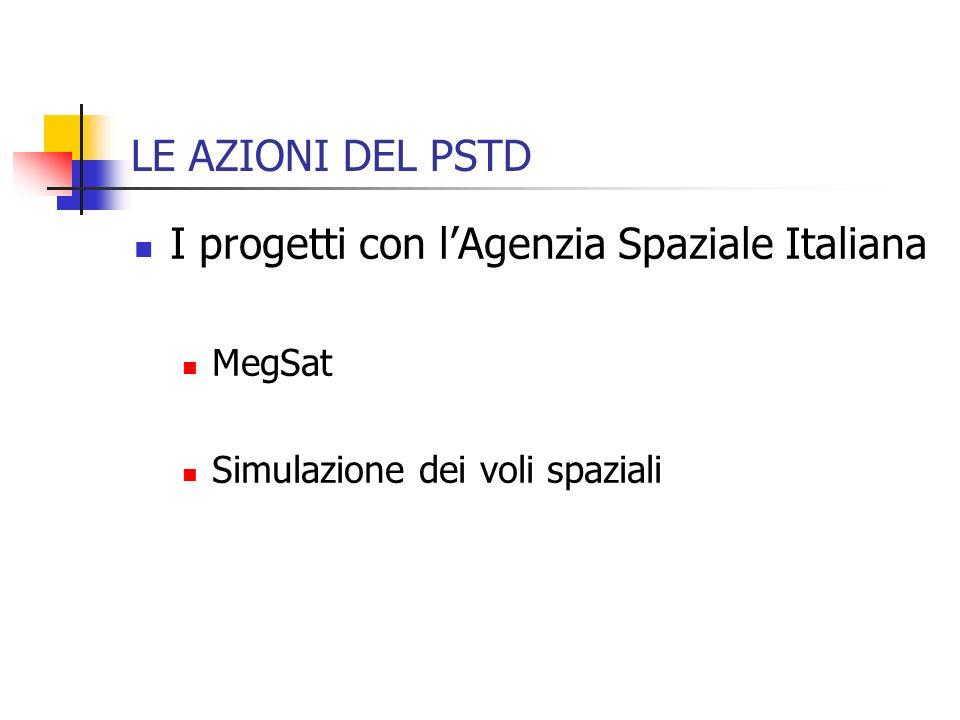 I progetti con l'Agenzia Spaziale Italiana