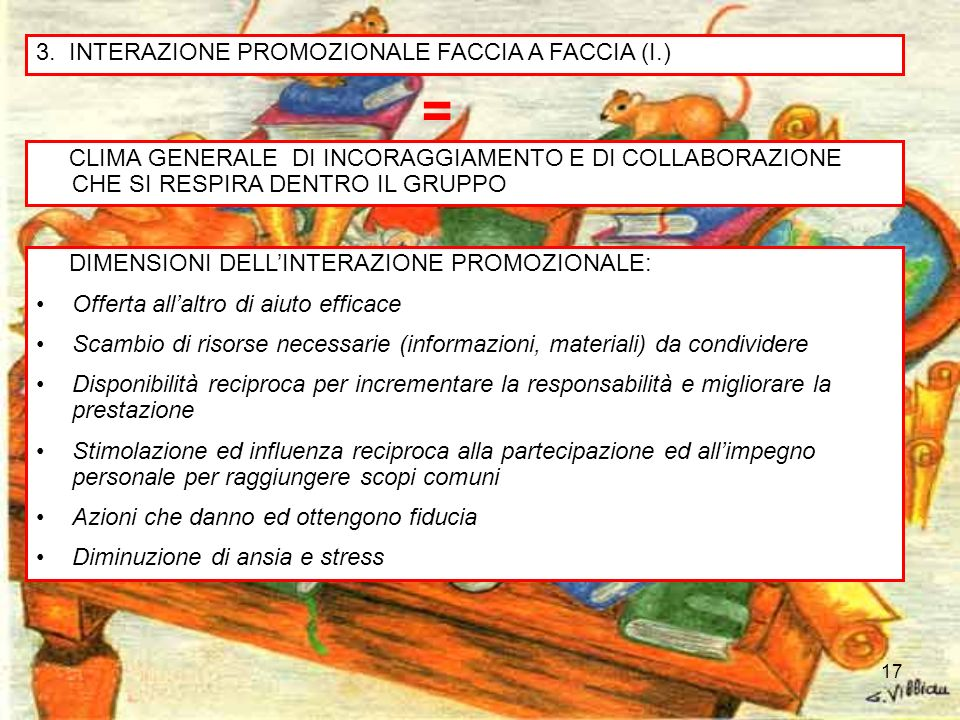= 3. INTERAZIONE PROMOZIONALE FACCIA A FACCIA (I.)