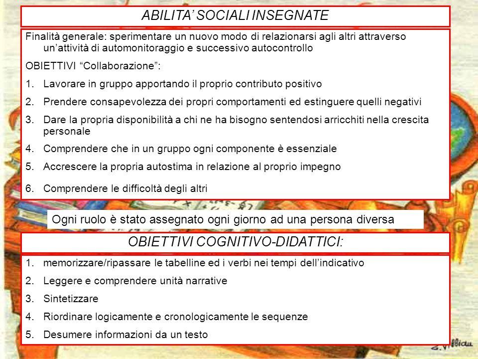 ABILITA' SOCIALI INSEGNATE